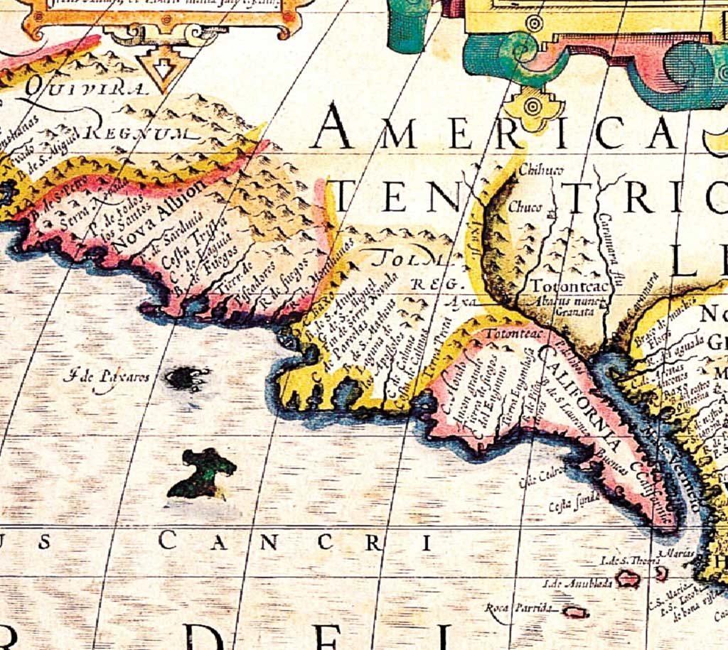 Detalle del Mapa Hodocus Hondius